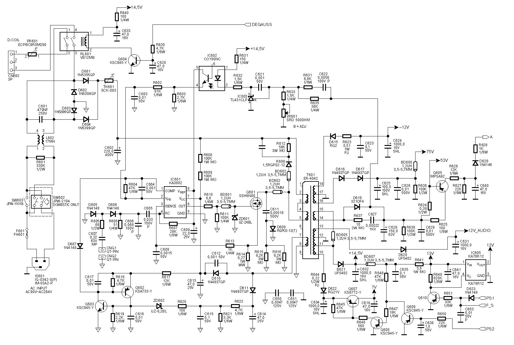 Схема syncmaster 2223nw